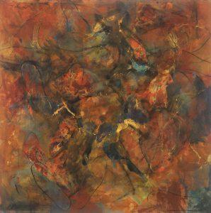 Intermingling — m/m, 36 x 36 (Sold)